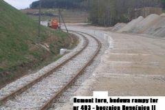 Remont toru, budowa rampy przy torze 403